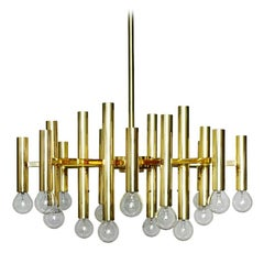 Italian Vintage Sculptural Sixteen-Arm Chandelier Pendant Light 1960s