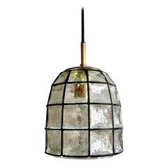 Beautiful Glass and Iron Pendant Ceiling Lamp by Limburg, Germany, 1960s