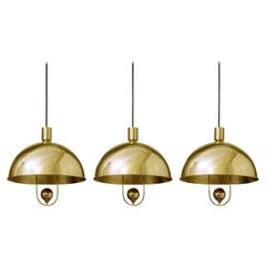 Very Rare Brass Pendants Ceiling Lights by Florian Schulz, Germany, 1960s