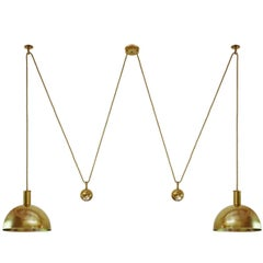 Vintage Double Posa Counterweight Pendant Lamp Ceiling Light by Florian Schulz