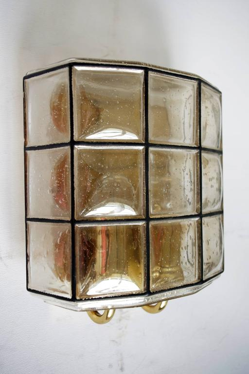 Wall Lamps Germany : Pair of Iron and Bubble Glass Sconces Wall Lamps by Limburg Germany, 1960s For Sale at 1stdibs