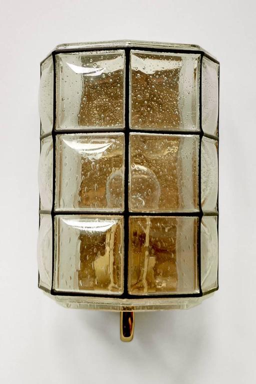 Wall Lamps Germany : Six Iron and Bubble Glass Sconces Wall Lamps by Limburg Germany, 1960s For Sale at 1stdibs