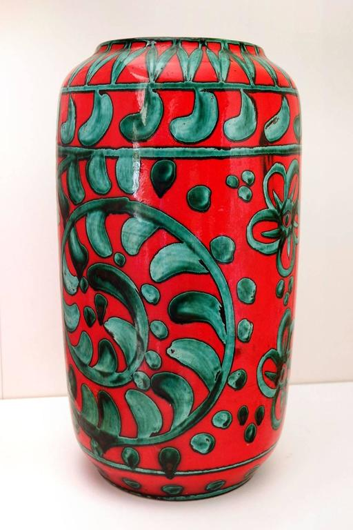 Beautiful large Mid-Century vase by Scheurich. 