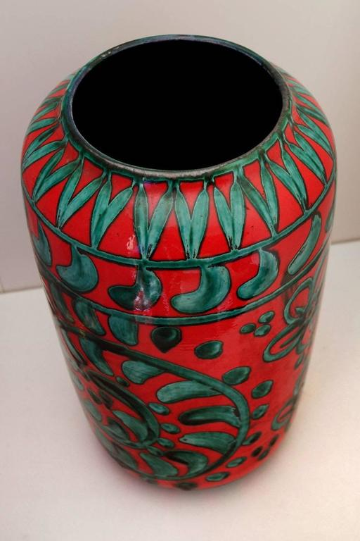 Mid-Century Modern Large German Floor Vase by Scheurich Keramik, W-Germany Pottery, 1960s-1970s For Sale