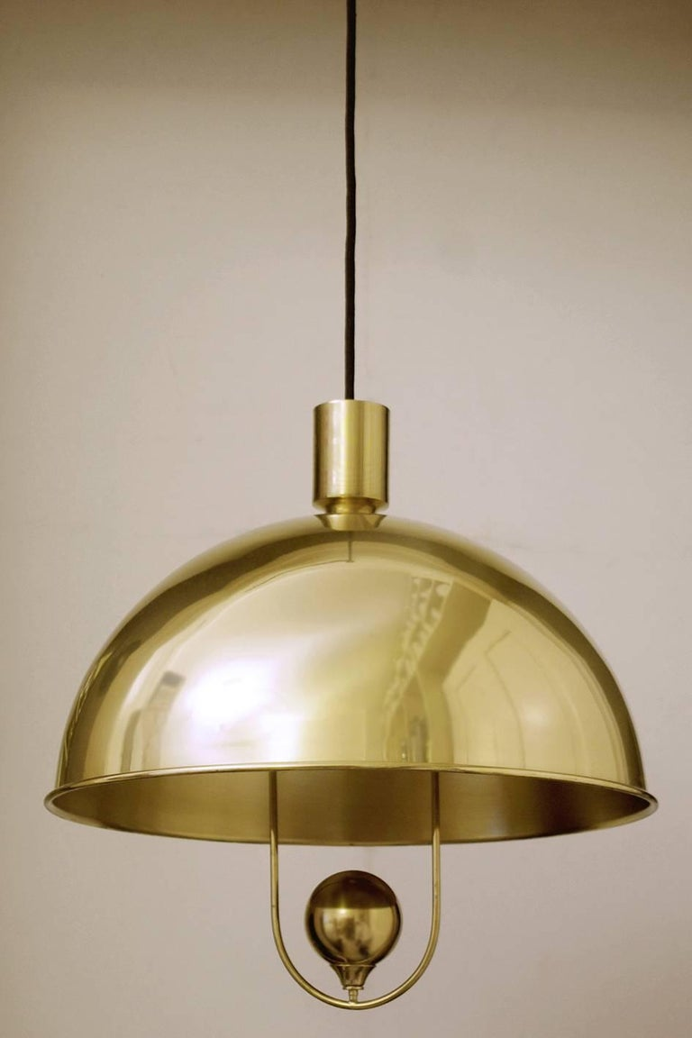 Ceiling Lights Very : Very rare brass pendants ceiling lights by florian schulz