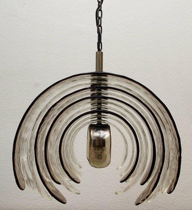 Three Rare Huge Carlo Nason Blown Glass Ceiling Lights Chandeliers, Italy, 1960s 2