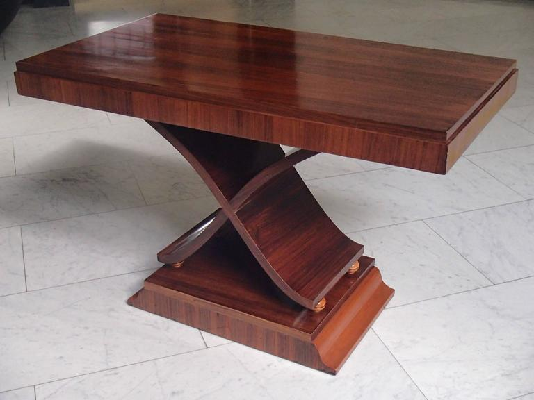 Art Deco Large Console/Side Table X Leg Shape Rosewood For