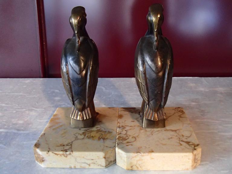 Pair of Art Deco Bronze Bird Bookend by Jamar 3
