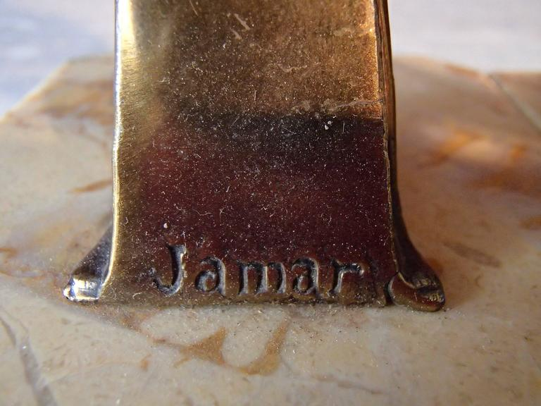 Pair of Art Deco Bronze Bird Bookend by Jamar 8