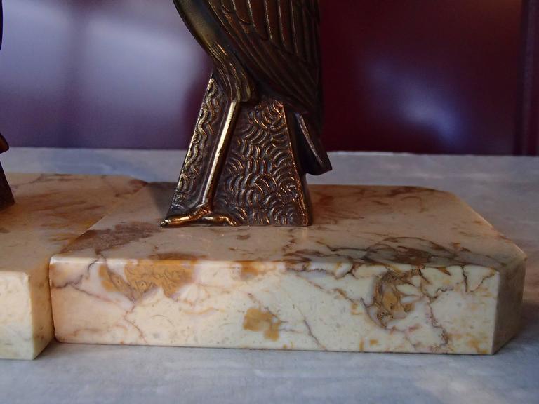 Pair of Art Deco Bronze Bird Bookend by Jamar 10