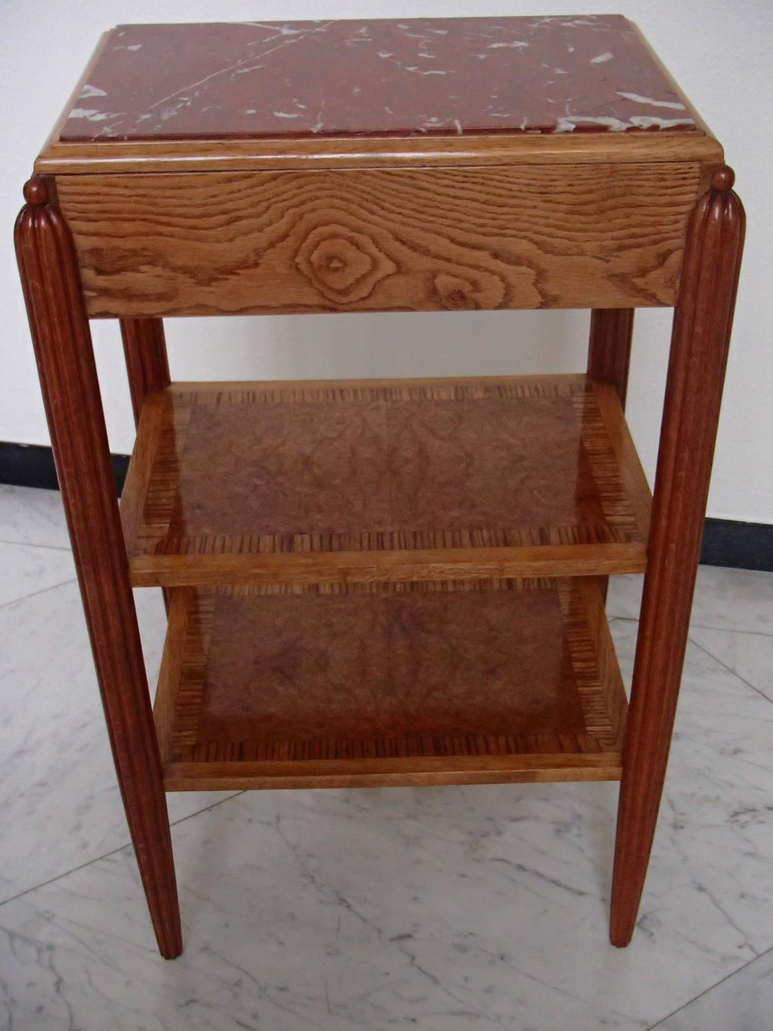 1920 Console High Table Oak Zebra Wood Maple Eye Marble
