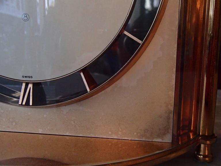 Swiss Mid-Century Jaeger-LeCoultre Table Clock For Sale