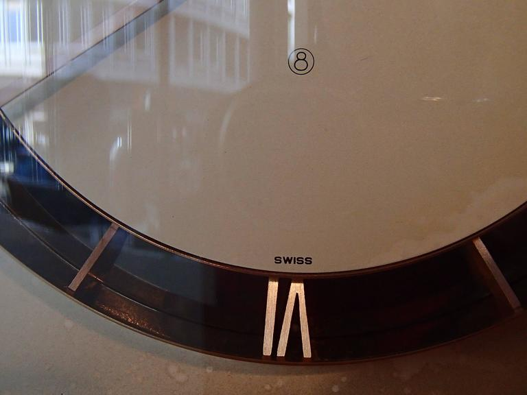 Mid-20th Century Mid-Century Jaeger-LeCoultre Table Clock For Sale