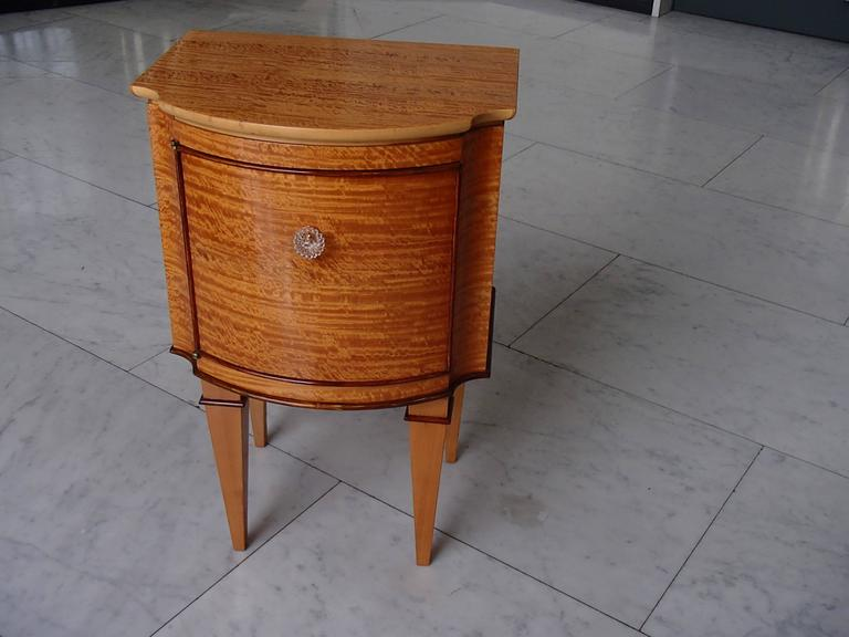 Pair of very elegant s lemon wood side tables