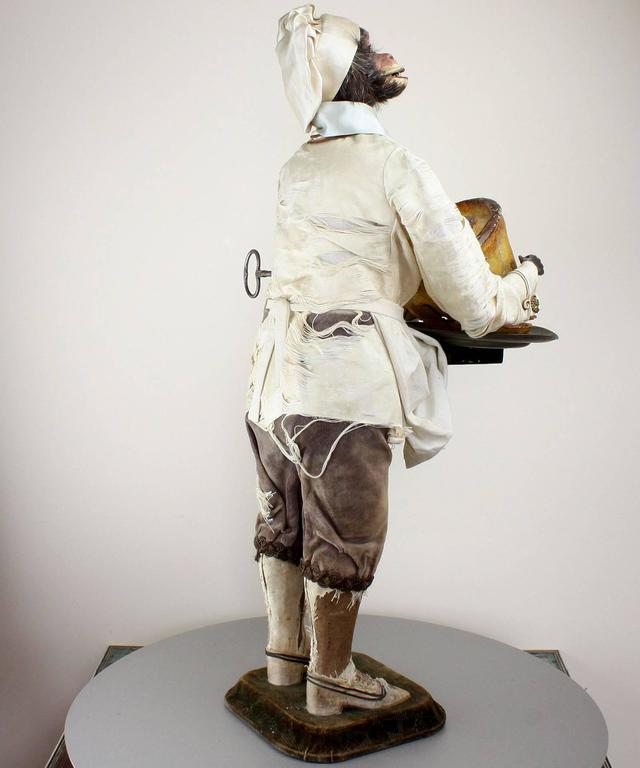 French Antique Monkey Pastry-Cook Musical Automaton, by Roullet & Decamps