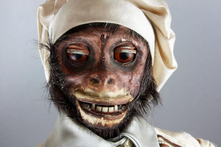 Antique Monkey Pastry-Cook Musical Automaton, by Roullet & Decamps In Good Condition In London, GB