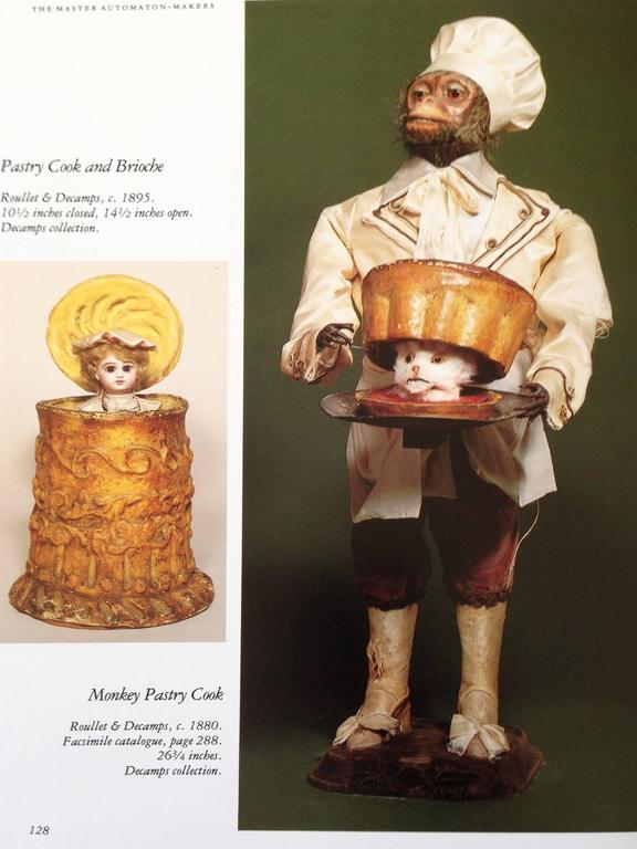 Antique Monkey Pastry-Cook Musical Automaton, by Roullet & Decamps 1