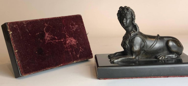 Pair of Antique Egyptian Revival Grand Tour Bronze Sphinx In Excellent Condition For Sale In London, GB