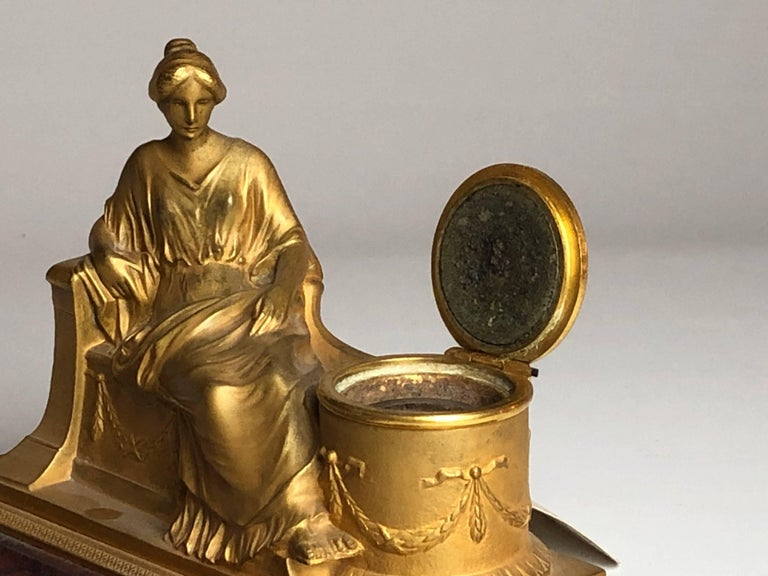 19th Century Two-Piece Grand Tour Desk Set, Inkwell and Striker, circa 1880 For Sale 1