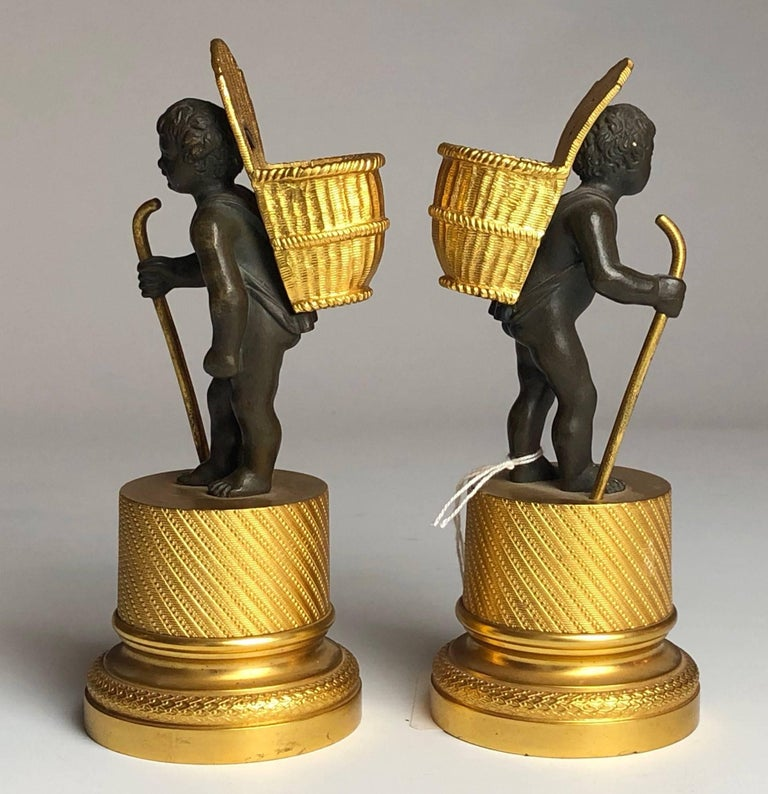 A good quality pair of French bronze and ormolu match strikers