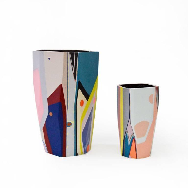 Unique Contemporary Cast Resin Vase in Amorgos For Sale 1