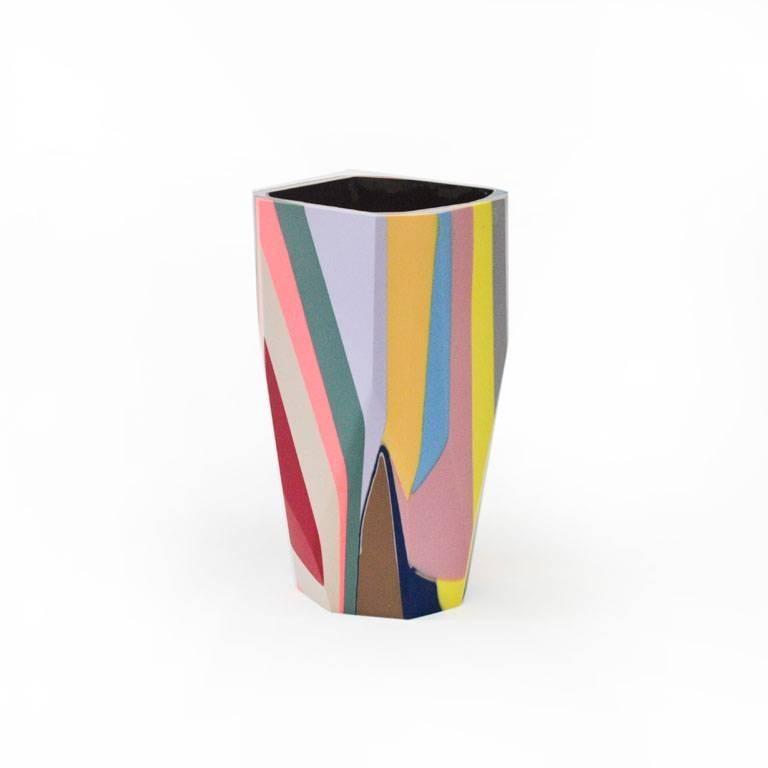 American Unique Contemporary Cast Resin Vase in Amorgos For Sale
