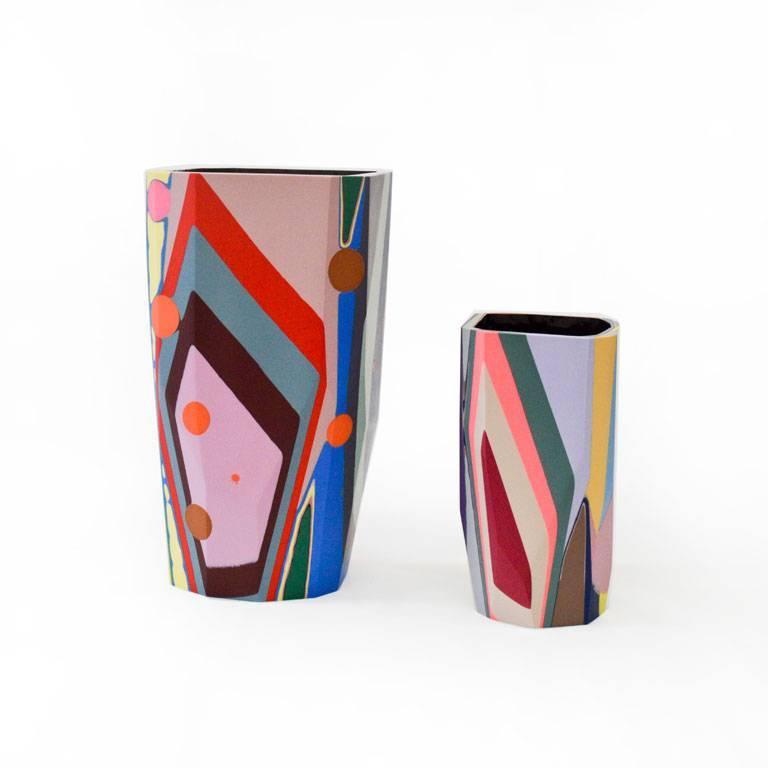 Unique Contemporary Cast Resin Vase in Amorgos For Sale 2