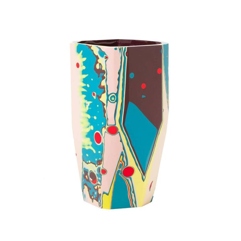 The colorful and energetic Kyoto Vase is part of our Black Magic collection, inspired by the concept of revealing that which has been hidden from sight, but remains ever-present.