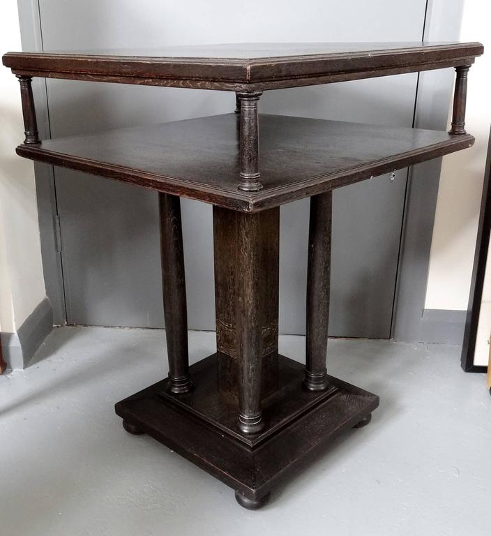 Arts and crafts josef hoffmann style oak occasional table for Arts and crafts style table
