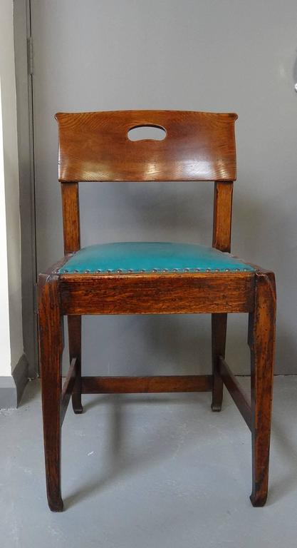 Richard Riemerschmid Arts and Crafts Art Nouveau rare pair oak chairs 4