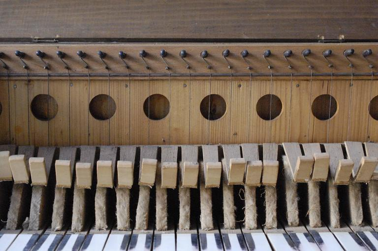 French 19th Century Doll's Piano, Toy Upright, Mounted Brass, Restored 5