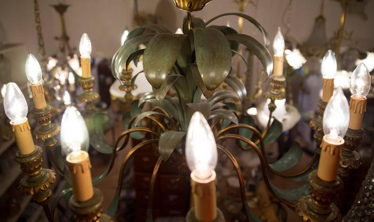 19th Century Pineapple Style Twelve Branched Chandelier At