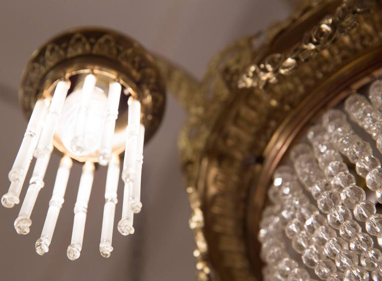 19th Century Balloon Chandelier Three Branched Empire