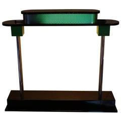 "Green and Black Desk Lamp ""Pausania"" by E. Sottsass; Resin Body and Methacrylate"
