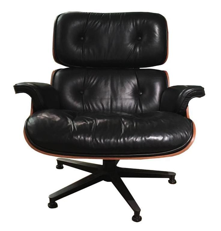 Lounge Chair and Ottoman by Charles Eames at 1stdibs