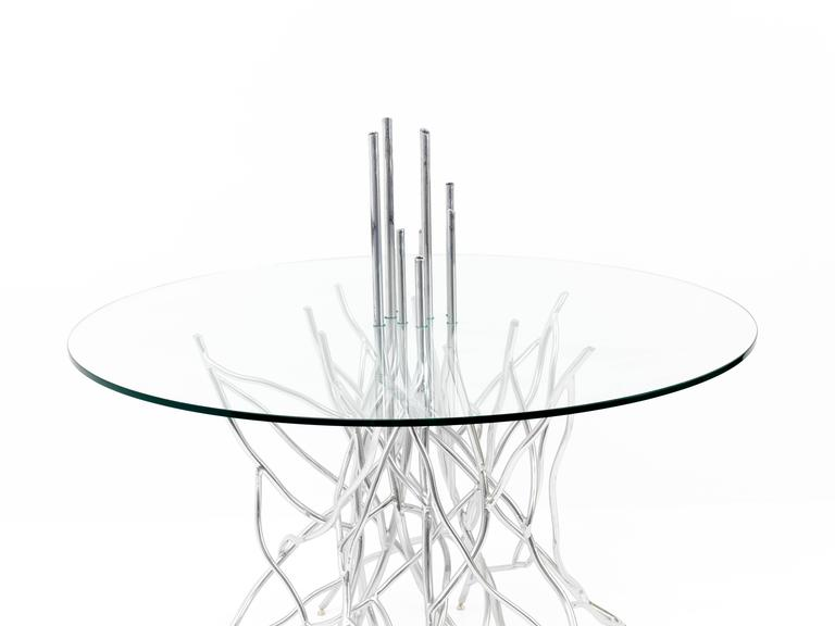 Hand-Crafted Torsion Dining Table - One-of-a-Kind Handcrafted by Mats Christeen For Sale
