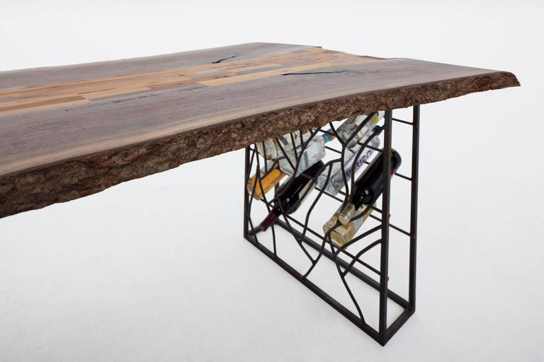 Raw Craft Table and Wine Rack One of a Kind, Handcrafted with Anthony Bourdain 2