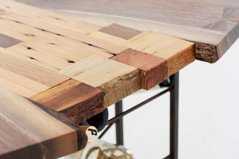 Raw Craft Table and Wine Rack One of a Kind, Handcrafted with Anthony Bourdain 3
