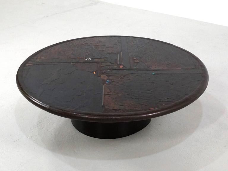 Brutalist Paul Kingma Coffee Table, 1990 2