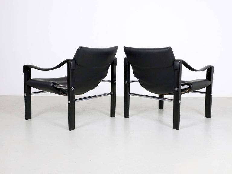 Mid Century Modern Black Chelsea Chair By Maurice Burke For Arkana For Sale