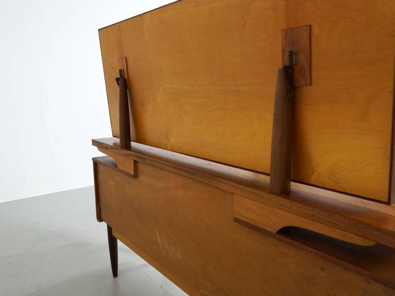 Danish Modern Teak Vanity or Dressing Table with Mirror, 1960s For Sale 1