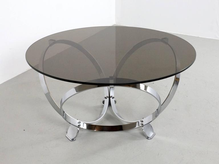 Round Chrome Coffee Table By Knut Hesterberg 1970 3