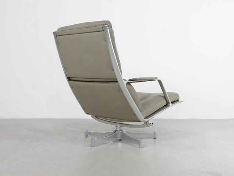 Fabricius & Kastholm FK85 Grey Leather Lounge Chair for Kill International, 1962 5