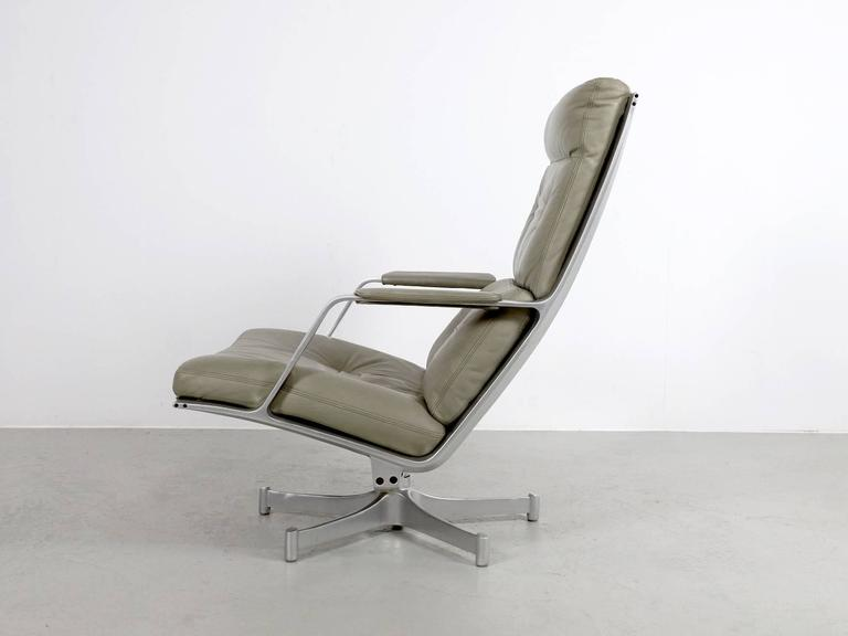 Fabricius & Kastholm FK85 Grey Leather Lounge Chair for Kill International, 1962 6