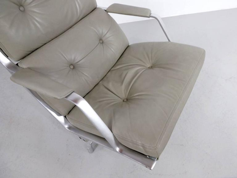 Fabricius & Kastholm FK85 Grey Leather Lounge Chair for Kill International, 1962 7