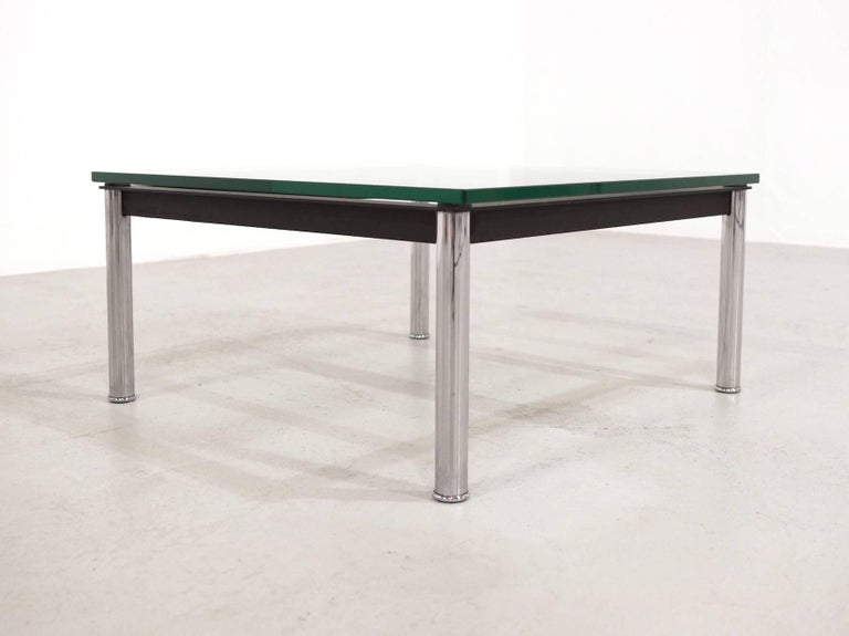 Le Corbusier Glass Table Lc10 By Cassina For Sale At 1stdibs
