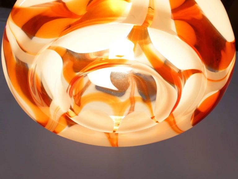 Large Italian Murano Glass Pendant Light by Carlo Nason 1960s for Mazzega For Sale 2