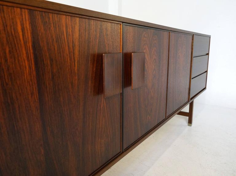rosewood fristho extra large sideboard by inge klingenberg 1968 at 1stdibs. Black Bedroom Furniture Sets. Home Design Ideas