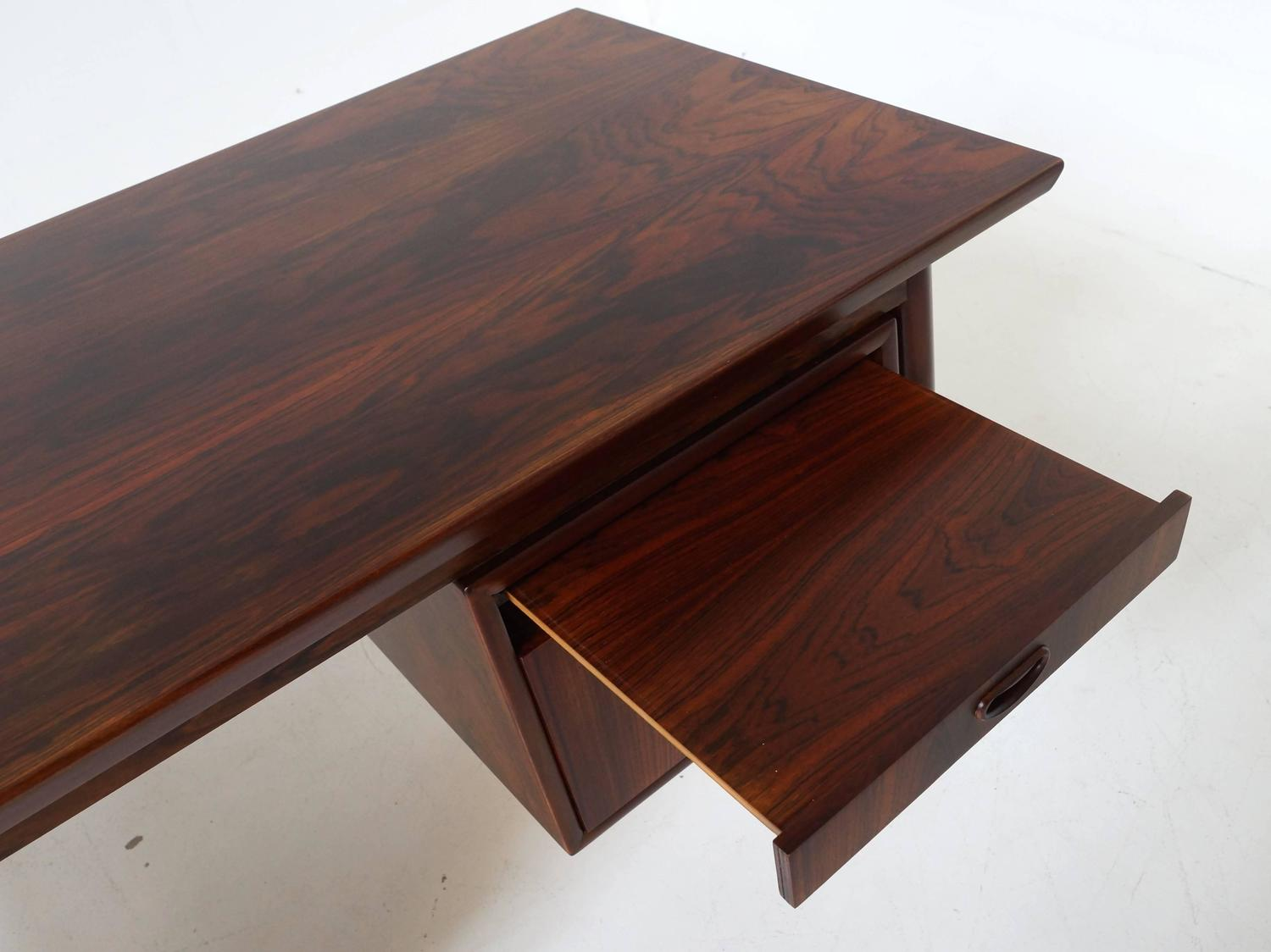 beautiful scandinavian rosewood writing desk 1970 at 1stdibs