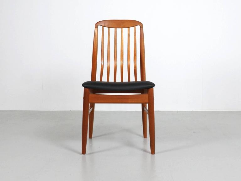 Teak Chair six danish modern teak dining chairsbenny linden for sale at
